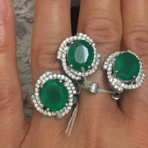 Set Ohrringe Ring 925er Silber NEU