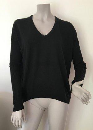 SET Oversize Pullover Cashmere inside schwarz Gr. 38 Inside-out-Nähte