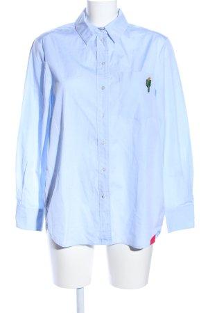 Set Oversized Bluse blau Casual-Look