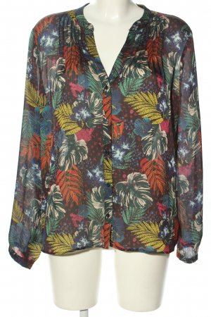 Set Oversized Blouse allover print casual look