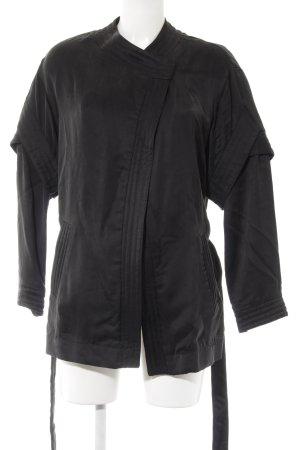 Set Oversized Jacke schwarz Casual-Look