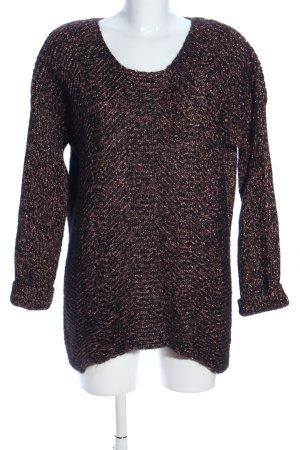 Set Oversized Pullover braun meliert Casual-Look