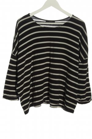 Set Oversized Shirt black-natural white striped pattern casual look