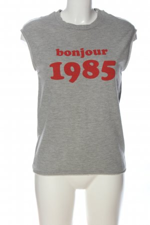 Set Print Shirt light grey-red flecked casual look