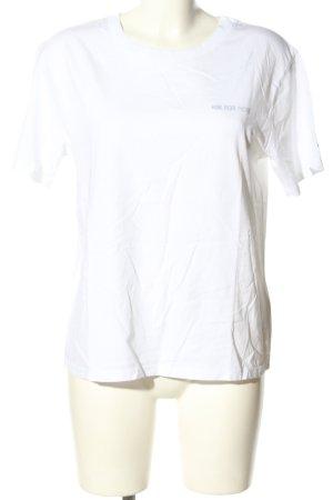 Set Print Shirt white casual look