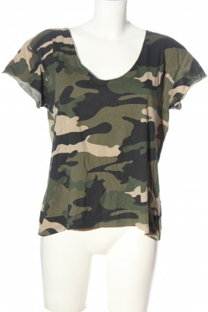 Set Print Shirt camouflage pattern casual look