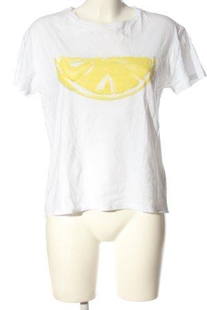 Set Print Shirt white-primrose themed print casual look
