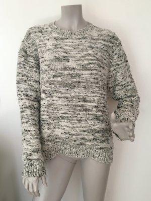 SET Pullover creme meliert mit goldfarbenen Metallfäden Gr. 40 WIE NEU