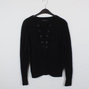 SET Pullover Gr. S schwarz Laced Up Schnürung (18/10/434)