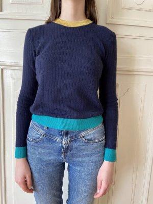 Set Sweter z dzianiny Wielokolorowy Wełna
