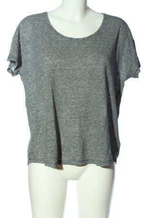 Set Ringelshirt schwarz-weiß Streifenmuster Casual-Look