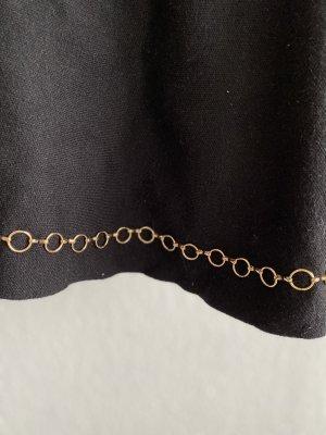 Zara Falda de punto negro-color oro