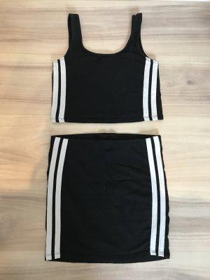 77th Flea Sukienka z wycięciem czarny-biały