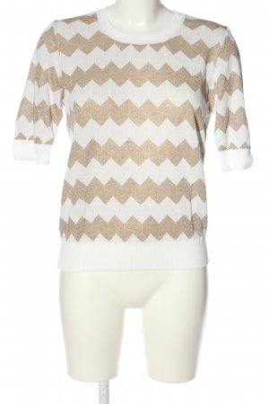 Set Sweter z okrągłym dekoltem biały-złoto Na całej powierzchni
