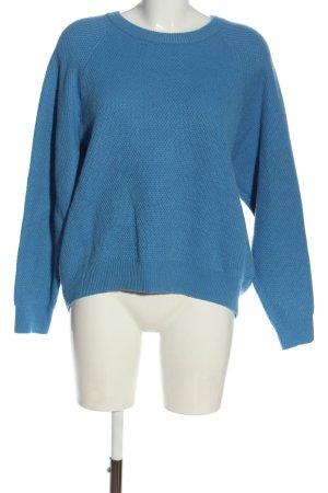 Set Rundhalspullover blau Casual-Look