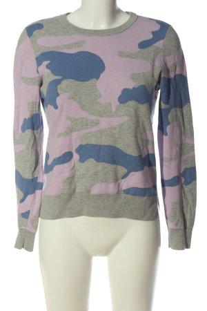 Set Rundhalspullover Camouflagemuster Casual-Look