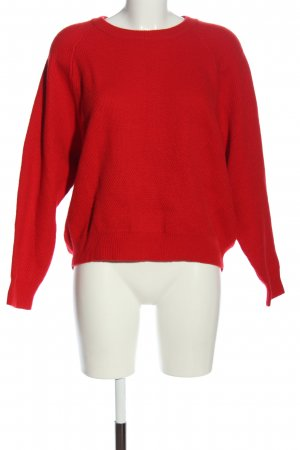 Set Rundhalspullover rot Casual-Look