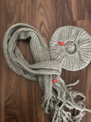 edc Wollen sjaal grijs