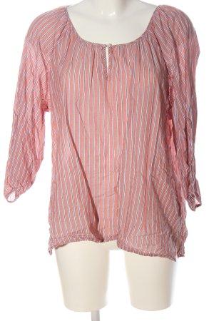 Set Schlupf-Bluse pink Streifenmuster Casual-Look