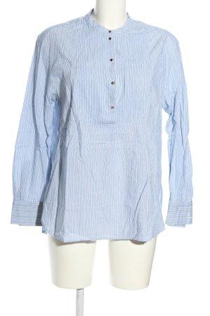 Set Schlupf-Bluse blau-weiß Allover-Druck Business-Look