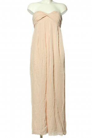 Set schulterfreies Kleid nude Elegant