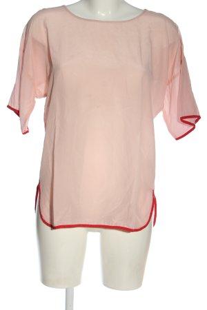 Set Blusa de seda blanco puro-rojo elegante