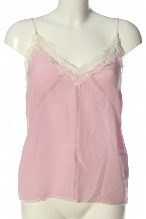Set Silk Top pink casual look