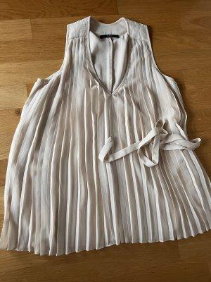 Set shirt Plissee XS nude creme