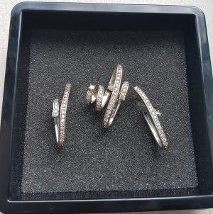 Set Silber 925 Ohrringe mit Zirkonia & Anhänger mit Zirkonia