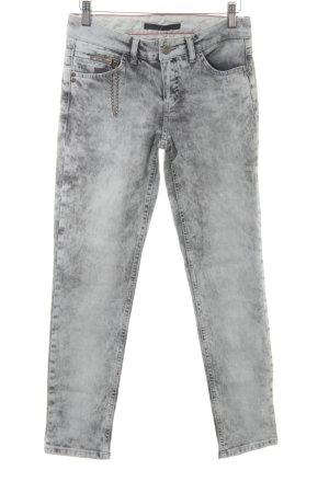Set Skinny Jeans anthrazit-hellgrau Casual-Look
