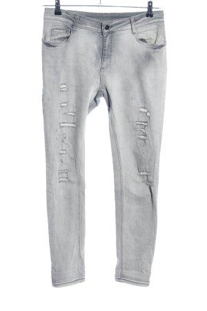 Set Slim Jeans hellgrau Casual-Look