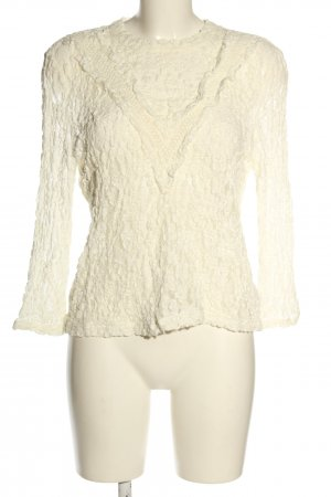 Set Lace Blouse cream casual look