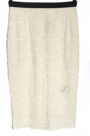 Set Lace Skirt natural white-black flower pattern casual look