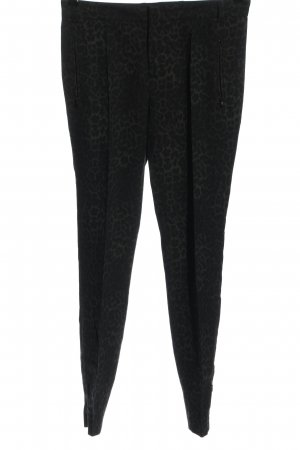 Set Spodnie materiałowe czarny-jasnoszary Na całej powierzchni W stylu casual