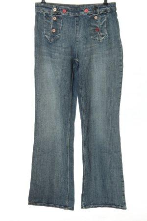 Set Straight-Leg Jeans blau Casual-Look