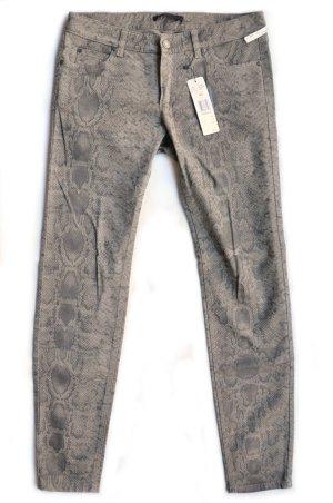 SET Stretch-Jeans Schlangen-Muster kitt grau Gr. 40 NEU/ UNGETRAGEN mit Etikett
