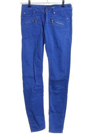 Set Pantalón elástico azul look casual