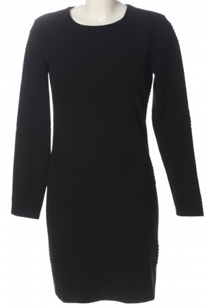 Set Knitted Dress black allover print casual look