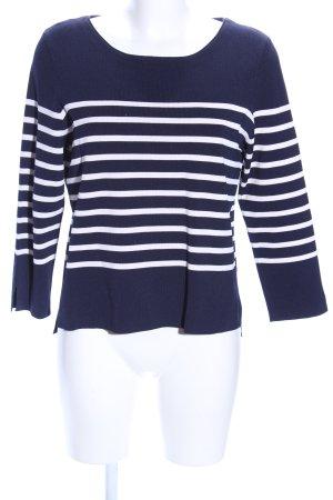 Set Strickpullover blau-weiß Streifenmuster Casual-Look