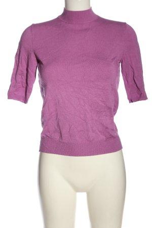 Set Strickshirt lila Casual-Look