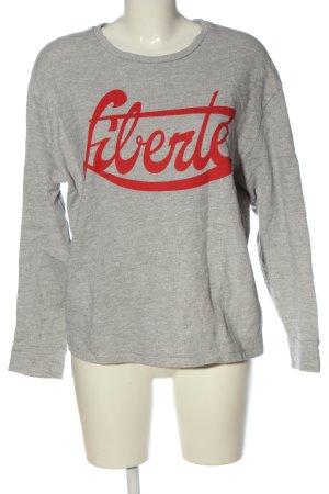 Set Sweatshirt hellgrau-rot meliert Casual-Look