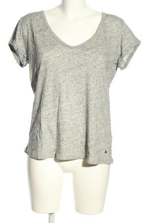 Set T-Shirt wollweiß-schwarz meliert Elegant