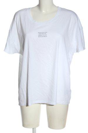 Set T-Shirt weiß-schwarz Schriftzug gedruckt Elegant
