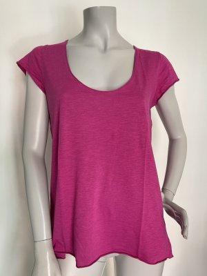SET T-Shirt Baumwolle Viskose fuchsia Gr. 38