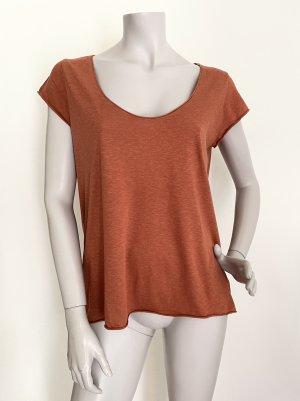 Set Basic Shirt dark orange-cognac-coloured