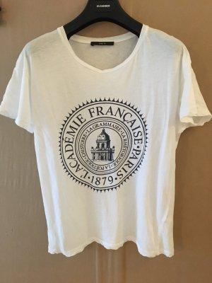 Set Print Shirt white