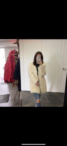 SET Urban Deluxe Cappotto in eco pelliccia bianco sporco-crema