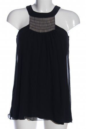 Set Trägertop schwarz-silberfarben Casual-Look