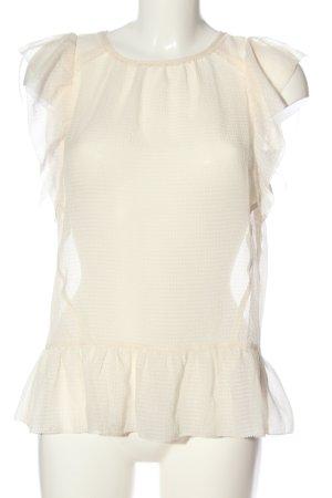 Set Blusa transparente crema look casual