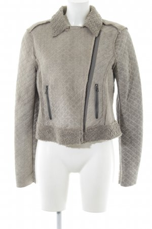 Set Flight Jacket light grey quilting pattern casual look
